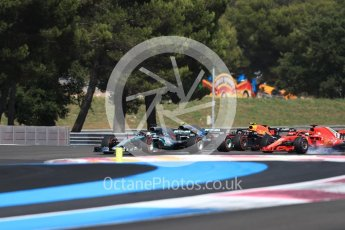 World © Octane Photographic Ltd. Formula 1 – French GP - Race. Mercedes AMG Petronas Motorsport AMG F1 W09 EQ Power+ - Lewis Hamilton leads into Turn 1. Circuit Paul Ricard, Le Castellet, France. Sunday 24th June 2018.