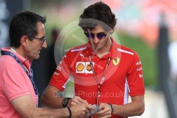 World © Octane Photographic Ltd. Formula 1 - French GP - Paddock. Antonio Giovinazzi – Third Driver for Scuderia Ferrari. Circuit Paul Ricard, Le Castellet, France. Saturday 23rd June 2018.