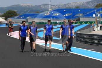 World © Octane Photographic Ltd. Formula 1 – French GP - Track Walk. Scuderia Toro Rosso STR13 – Brendon Hartley. Circuit Paul Ricard, Le Castellet, France. Thursday 21st June 2018.