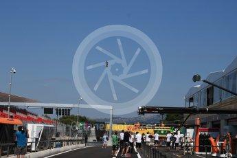 World © Octane Photographic Ltd. Formula 1 – French GP - Pit Lane. Hover above circuit. Circuit Paul Ricard, Le Castellet, France. Thursday 21st June 2018.