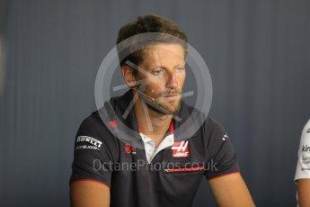 World © Octane Photographic Ltd. Formula 1 – French GP - Thursday Driver Press Conference. Haas F1 Team – Romain Grosjean. Circuit Paul Ricard, Le Castellet, France. Thursday 21st June 2018.