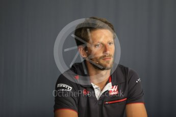 World © Octane Photographic Ltd. Formula 1 – French GP - Thursday Driver Press Conference. Haas F1 Team – Romain Grosjean. Circuit Paul Ricard, Le Castellet, France. Thursday 21st June 2018.