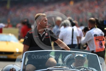 World © Octane Photographic Ltd. Formula 1 – German GP - Drivers' Parade. Haas F1 Team VF-18 – Kevin Magnussen. Hockenheimring, Baden-Wurttemberg, Germany. Sunday 22nd July 2018.