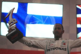 World © Octane Photographic Ltd. Formula 1 – German GP - Podium. Mercedes AMG Petronas Motorsport AMG F1 W09 EQ Power+ - Lewis Hamilton. Hockenheimring, Baden-Wurttemberg, Germany. Sunday 22nd July 2018.