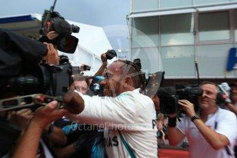 World © Octane Photographic Ltd. Formula 1 – German GP - Parc Ferme. Mercedes AMG Petronas Motorsport AMG F1 W09 EQ Power+ - Lewis Hamilton. Hockenheimring, Baden-Wurttemberg, Germany. Sunday 22nd July 2018.