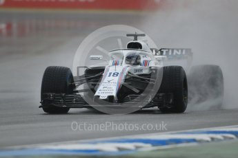 World © Octane Photographic Ltd. Formula 1 – German GP - Practice 3. Williams Martini Racing FW41 – Lance Stroll. Hockenheimring, Baden-Wurttemberg, Germany. Saturday 21st July 2018.