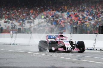 World © Octane Photographic Ltd. Formula 1 – German GP - Practice 3. Sahara Force India VJM11 - Sergio Perez. Hockenheimring, Baden-Wurttemberg, Germany. Saturday 21st July 2018.