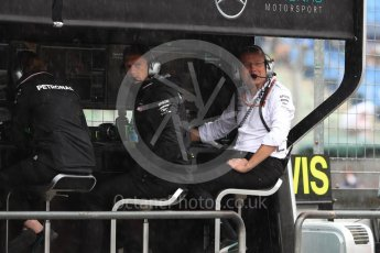 World © Octane Photographic Ltd. Formula 1 – German GP - Practice 3. Andy Cowell - Managing Director of Mercedes AMG High Performance Powertrains. Hockenheimring, Baden-Wurttemberg, Germany. Saturday 21st July 2018.