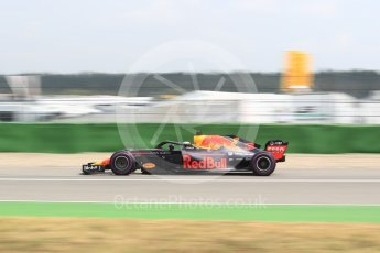 World © Octane Photographic Ltd. Formula 1 – German GP - Qualifying. Aston Martin Red Bull Racing TAG Heuer RB14 – Daniel Ricciardo. Hockenheimring, Baden-Wurttemberg, Germany. Saturday 21st July 2018.