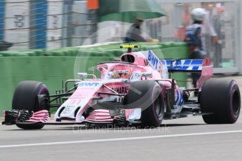 World © Octane Photographic Ltd. Formula 1 – German GP - Qualifying. Sahara Force India VJM11 - Esteban Ocon. Hockenheimring, Baden-Wurttemberg, Germany. Saturday 21st July 2018.