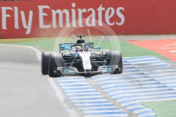 World © Octane Photographic Ltd. Formula 1 – German GP - Qualifying. Mercedes AMG Petronas Motorsport AMG F1 W09 EQ Power+ - Lewis Hamilton. Hockenheimring, Baden-Wurttemberg, Germany. Saturday 21st July 2018.