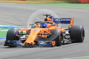 World © Octane Photographic Ltd. Formula 1 – German GP - Qualifying. McLaren MCL33 – Fernando Alonso. Hockenheimring, Baden-Wurttemberg, Germany. Saturday 21st July 2018.