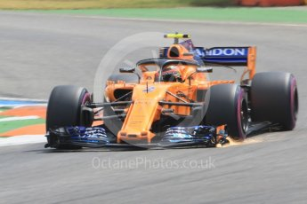World © Octane Photographic Ltd. Formula 1 – German GP - Qualifying. McLaren MCL33 – Stoffel Vandoorne. Hockenheimring, Baden-Wurttemberg, Germany. Saturday 21st July 2018.
