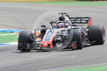 World © Octane Photographic Ltd. Formula 1 – German GP - Qualifying. Haas F1 Team VF-18 – Romain Grosjean. Hockenheimring, Baden-Wurttemberg, Germany. Saturday 21st July 2018.