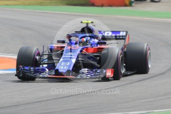 World © Octane Photographic Ltd. Formula 1 – German GP - Qualifying. Scuderia Toro Rosso STR13 – Pierre Gasly. Hockenheimring, Baden-Wurttemberg, Germany. Saturday 21st July 2018.