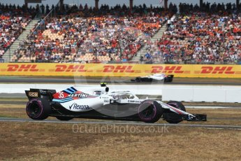 World © Octane Photographic Ltd. Formula 1 – German GP - Qualifying. Williams Martini Racing FW41 – Sergey Sirotkin. Hockenheimring, Baden-Wurttemberg, Germany. Saturday 21st July 2018.