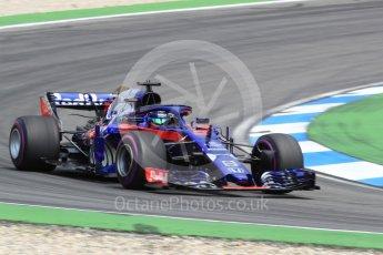 World © Octane Photographic Ltd. Formula 1 – German GP - Race. Scuderia Toro Rosso STR13 – Brendon Hartley. Hockenheimring, Baden-Wurttemberg, Germany. Sunday 22nd July 2018.