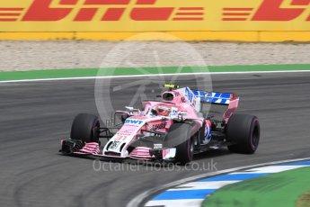 World © Octane Photographic Ltd. Formula 1 – German GP - Race. Sahara Force India VJM11 - Esteban Ocon. Hockenheimring, Baden-Wurttemberg, Germany. Sunday 22nd July 2018.