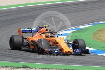 World © Octane Photographic Ltd. Formula 1 – German GP - Race. McLaren MCL33 – Stoffel Vandoorne. Hockenheimring, Baden-Wurttemberg, Germany. Sunday 22nd July 2018.