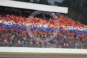 World © Octane Photographic Ltd. Formula 1 – German GP - Race. Dutch flag made up of fan held cards. Hockenheimring, Baden-Wurttemberg, Germany. Sunday 22nd July 2018.