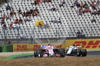 World © Octane Photographic Ltd. Formula 1 – German GP - Race. Sahara Force India VJM11 - Esteban Ocon and Alfa Romeo Sauber F1 Team C37 – Marcus Ericsson. Hockenheimring, Baden-Wurttemberg, Germany. Sunday 22nd July 2018.