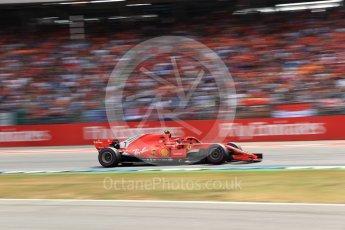 World © Octane Photographic Ltd. Formula 1 – German GP - Race. Scuderia Ferrari SF71-H – Kimi Raikkonen. Hockenheimring, Baden-Wurttemberg, Germany. Sunday 22nd July 2018.