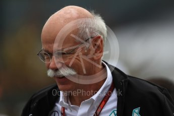 World © Octane Photographic Ltd. Formula 1 - German GP - Paddock. Dieter Zetsche - Chairman of the Board of Management of Daimler AG and Head of Mercedes-Benz Cars. Hockenheimring, Baden-Wurttemberg, Germany. Sunday 22nd July 2018.