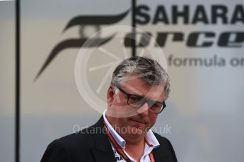World © Octane Photographic Ltd. Formula 1 - German GP - Paddock. Otmar Szafnauer - Chief Operating Officer of Sahara Force India. Hockenheimring, Baden-Wurttemberg, Germany. Sunday 22nd July 2018.