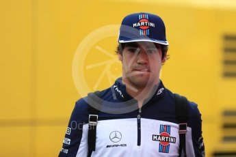 World © Octane Photographic Ltd. Formula 1 – German GP - Paddock. Williams Martini Racing FW41 – Lance Stroll. Hockenheimring, Baden-Wurttemberg, Germany. Sunday 22nd July 2018.