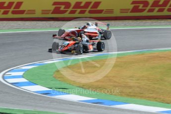 World © Octane Photographic Ltd. ADAC Formula 4 (F4). Van Amersfoort Racing - Liam Lawson and Prema Theodore Racing - Jack Doohan. Hockenheimring Practice, Baden-Wurttemberg, Germany. Thursday 19th July 2018.