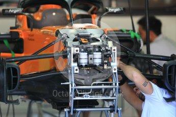 World © Octane Photographic Ltd. Formula 1 – German GP - Pitlane. McLaren MCL33. Hockenheimring, Baden-Wurttemberg, Germany. Thursday 19th July 2018.