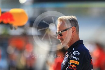 World © Octane Photographic Ltd. Formula 1 - German GP - Pitlane. Jonathan Wheatley - Team Manager of Red Bull Racing. Hockenheimring, Baden-Wurttemberg, Germany. Thursday 19th July 2018.