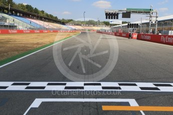 World © Octane Photographic Ltd. Formula 1 – German GP - view from pole position. Hockenheimring, Baden-Wurttemberg, Germany. Thursday 19th July 2018.