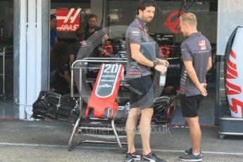 World © Octane Photographic Ltd. Formula 1 – German GP - Pitlane. Haas F1 Team VF-18 – Kevin Magnussen. Hockenheimring, Baden-Wurttemberg, Germany. Thursday 19th July 2018.