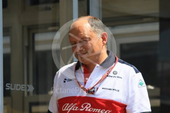 World © Octane Photographic Ltd. Formula 1 - German GP - Paddock. Frederic Vasseur – Team Principal and CEO of Sauber Motorsport AG. Hockenheimring, Baden-Wurttemberg, Germany. Thursday 19th July 2018.