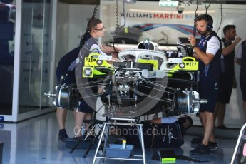World © Octane Photographic Ltd. Formula 1 – German GP - Pitlane. Williams Martini Racing FW41. Hockenheimring, Baden-Wurttemberg, Germany. Thursday 19th July 2018.