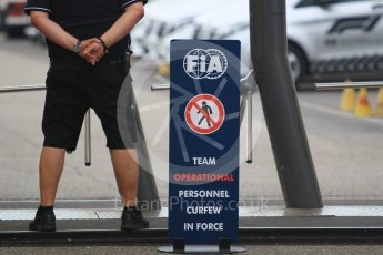 World © Octane Photographic Ltd. Formula 1 - German GP - Paddock. F1 Paddock curfew. Hockenheimring, Baden-Wurttemberg, Germany. Saturday 21st July 2018.