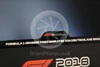 World © Octane Photographic Ltd. Formula 1 – German GP - FIA Drivers' Press Conference. Hockenheimring, Baden-Wurttemberg, Germany. Thursday 19th July 2018.
