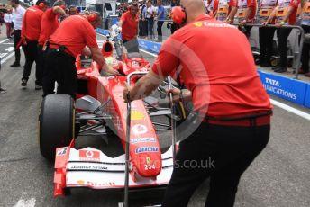 World © Octane Photographic Ltd. Formula 1 – German GP. Scuderia Ferrari F2004 of Michael Schumacher being driven by his son Mick Schumacher. Hockenheimring, Hockenheim, Germany. Saturday 27th July 2019.