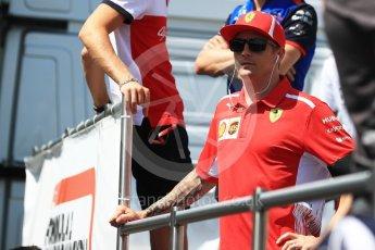 World © Octane Photographic Ltd. Formula 1 – Hungarian GP - Drivers' Parade. Scuderia Ferrari SF71-H – Kimi Raikkonen. Hungaroring, Budapest, Hungary. Sunday 29th July 2018.
