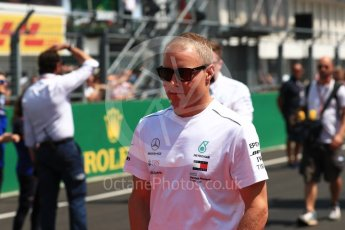 World © Octane Photographic Ltd. Formula 1 – Hungarian GP - Drivers' Parade. Mercedes AMG Petronas Motorsport AMG F1 W09 EQ Power+ - Valtteri Bottas. Hungaroring, Budapest, Hungary. Sunday 29th July 2018.