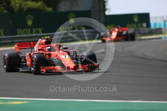 World © Octane Photographic Ltd. Formula 1 – Hungarian GP - Race. Scuderia Ferrari SF71-H – Kimi Raikkonen. Hungaroring, Budapest, Hungary. Sunday 29th July 2018.