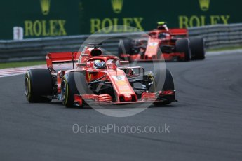 World © Octane Photographic Ltd. Formula 1 – Hungarian GP - Race. Scuderia Ferrari SF71-H – Sebastian Vettel. Hungaroring, Budapest, Hungary. Sunday 29th July 2018.