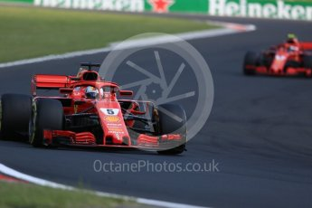 World © Octane Photographic Ltd. Formula 1 – Hungarian GP - Race. Scuderia Ferrari SF71-H – Sebastian Vettel. Hungaroring, Budapest, Hungary. Sunday 29th July 2018.