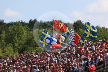 World © Octane Photographic Ltd. Formula 1 – Hungarian GP - Race. Fans at Turn 1. Hungaroring, Budapest, Hungary. Sunday 29th July 2018.