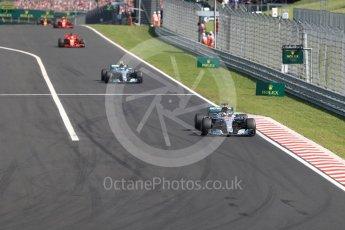 World © Octane Photographic Ltd. Formula 1 – Hungarian GP - Race. Mercedes AMG Petronas Motorsport AMG F1 W09 EQ Power+ - Lewis Hamilton. Hungaroring, Budapest, Hungary. Sunday 29th July 2018.