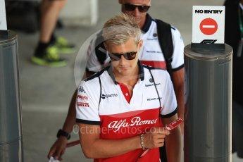 World © Octane Photographic Ltd. Formula 1 – Hungarian GP - Paddock. Alfa Romeo Sauber F1 Team – Marcus Ericsson. Hungaroring, Budapest, Hungary. Friday 27th July 2018.