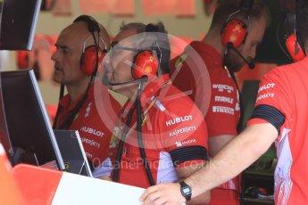 World © Octane Photographic Ltd. Formula 1 – Hungarian GP - Morning setup. Scuderia Ferrari SF71-H tech team. Hungaroring, Budapest, Hungary. Saturday 28th July 2018.