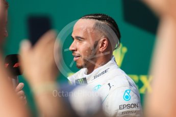 World © Octane Photographic Ltd. Formula 1 – Hungarian GP - Parc Ferme. Mercedes AMG Petronas Motorsport AMG F1 W09 EQ Power+ - Lewis Hamilton. Hungaroring, Budapest, Hungary. Sunday 29th July 2018.