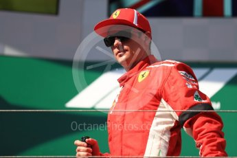 World © Octane Photographic Ltd. Formula 1 – Hungarian GP - Podium. Scuderia Ferrari SF71-H – Kimi Raikkonen. Hungaroring, Budapest, Hungary. Sunday 29th July 2018.